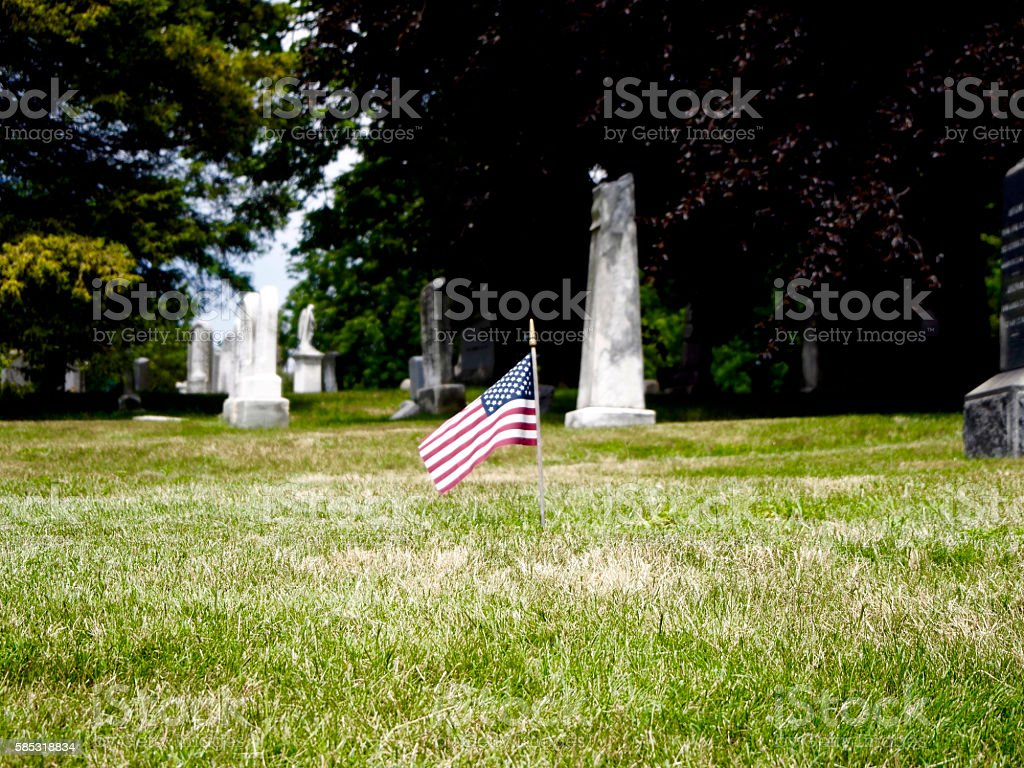 Green-wood cemetery stock photo