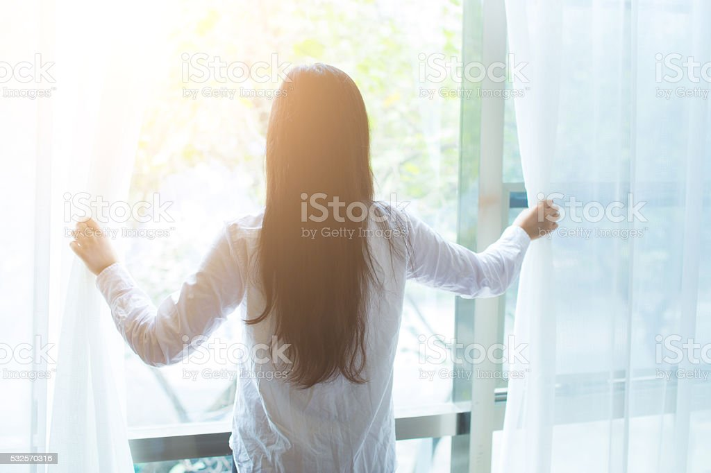 Greet a new day! stock photo