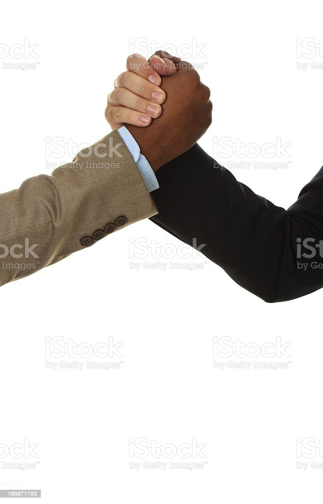 Greeting between two businessmen royalty-free stock photo