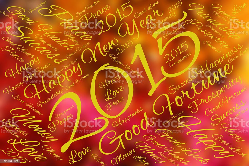 Greeting card happy new year 2015 stock photo more pictures of greeting card happy new year 2015 royalty free stock photo m4hsunfo