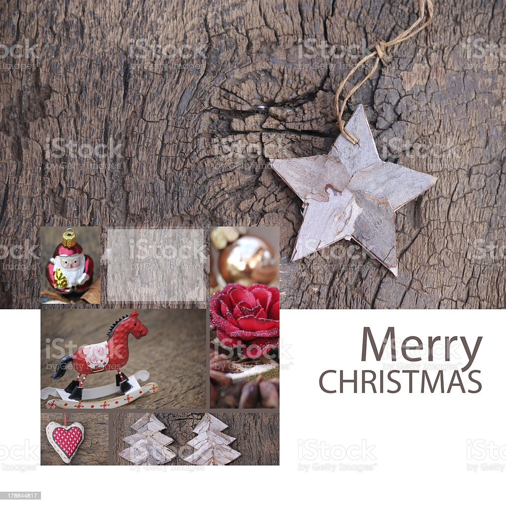 Greeting Card Merry Christmas royalty-free stock photo