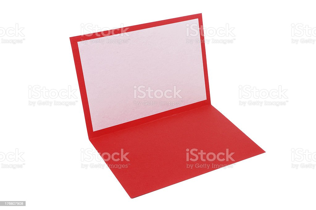 Greeting card opened royalty-free stock photo