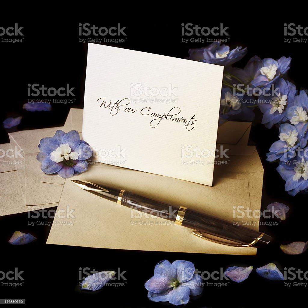 Greeting card royalty-free stock photo