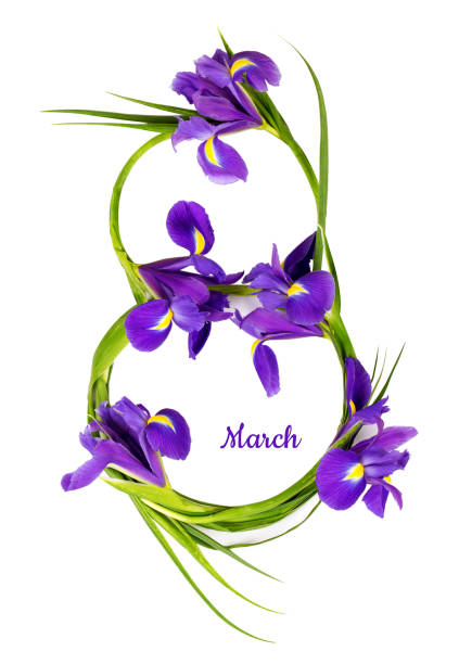greeting card - welcome march stock photos and pictures
