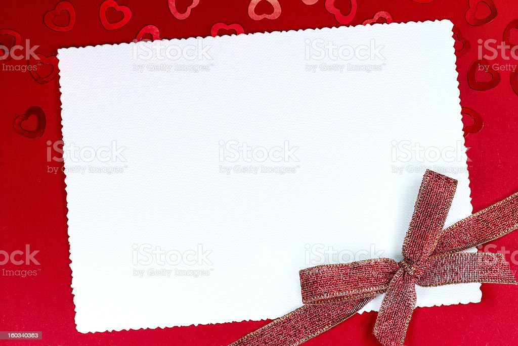 Greeting card with bow royalty-free stock photo