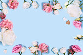 istock Greeting card with flowers. 1226813657
