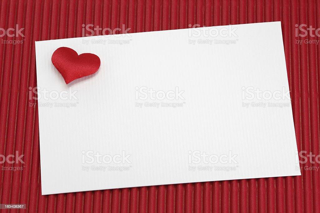 greeting card with heart on red background royalty-free stock photo