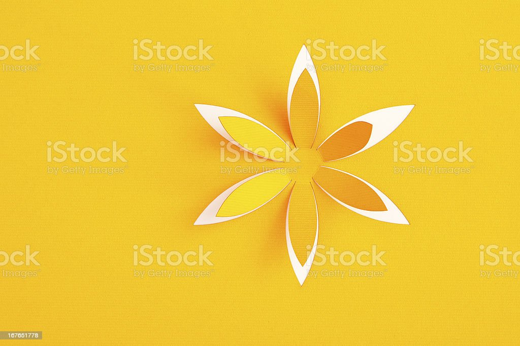 Greeting card with paper flower royalty-free stock photo