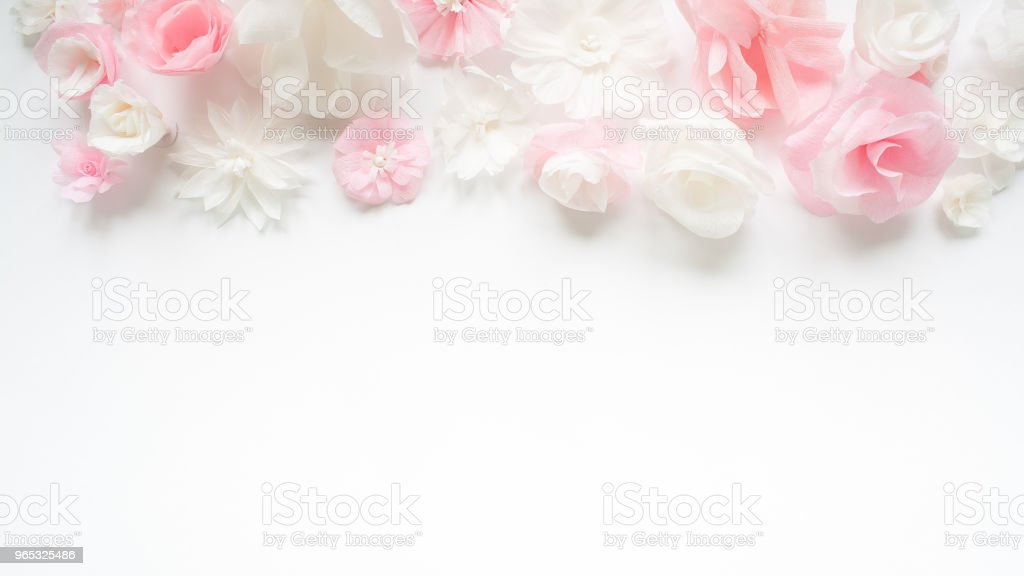 Greeting card with paper flowers royalty-free stock photo