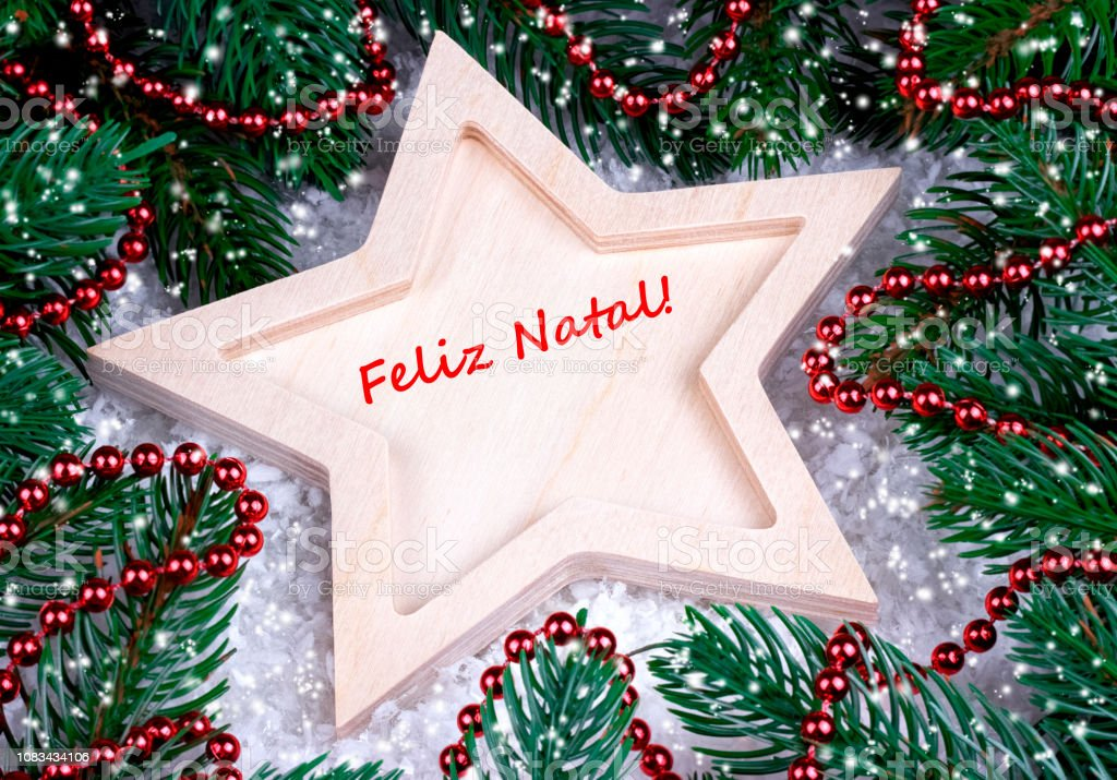 Christmas In Portugal 2019.Greeting Card With Text Merry Christmas In Portugal Stock