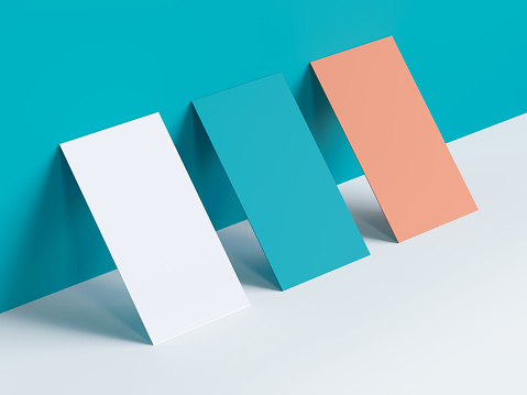Greeting cards different colours