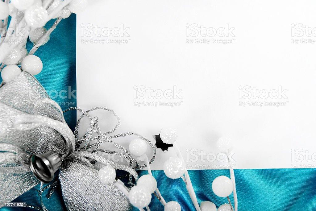 Greeting Christmas card royalty-free stock photo