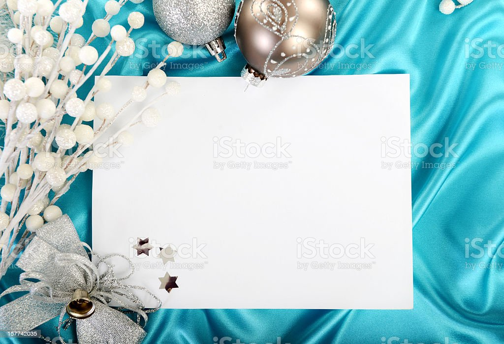 Greeting Christmas card royalty-free stock photo