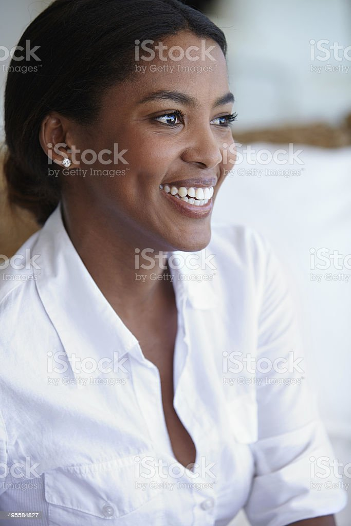 Greeting every day with a smile royalty-free stock photo
