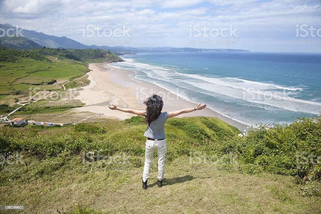 greeting La Vega beach royalty-free stock photo