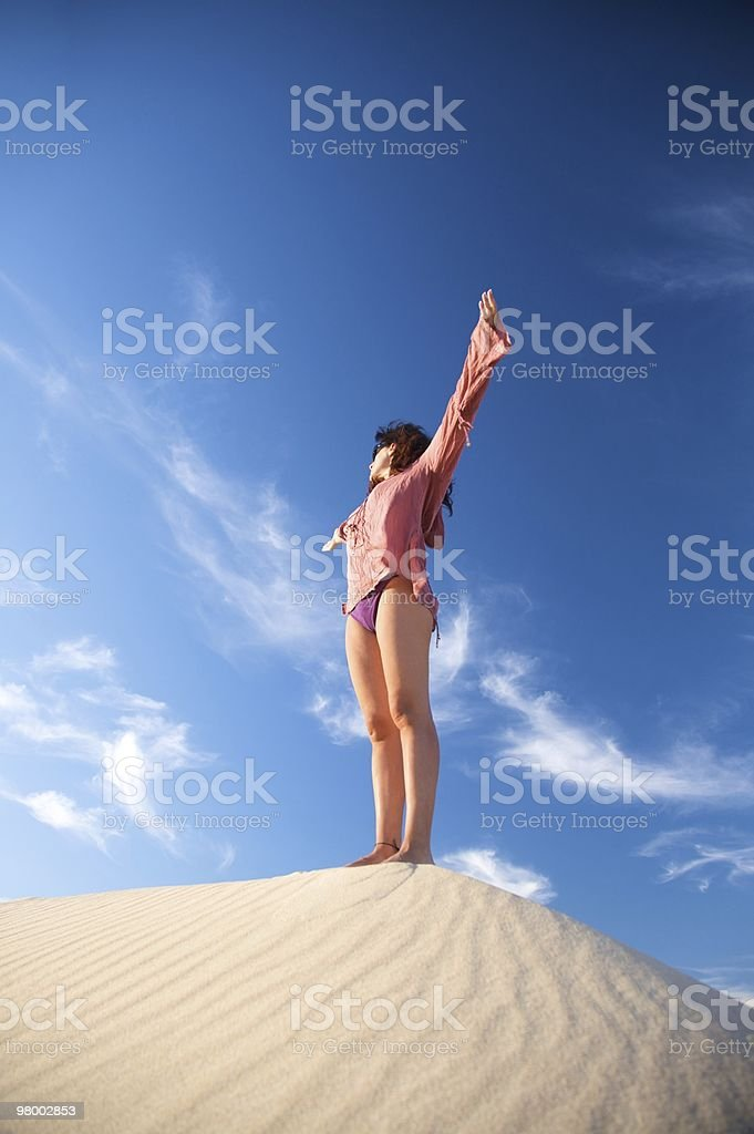 greeting on sand dune royalty free stockfoto