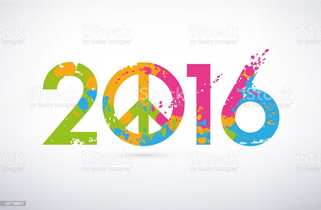2016 Greeting symbol stock photo