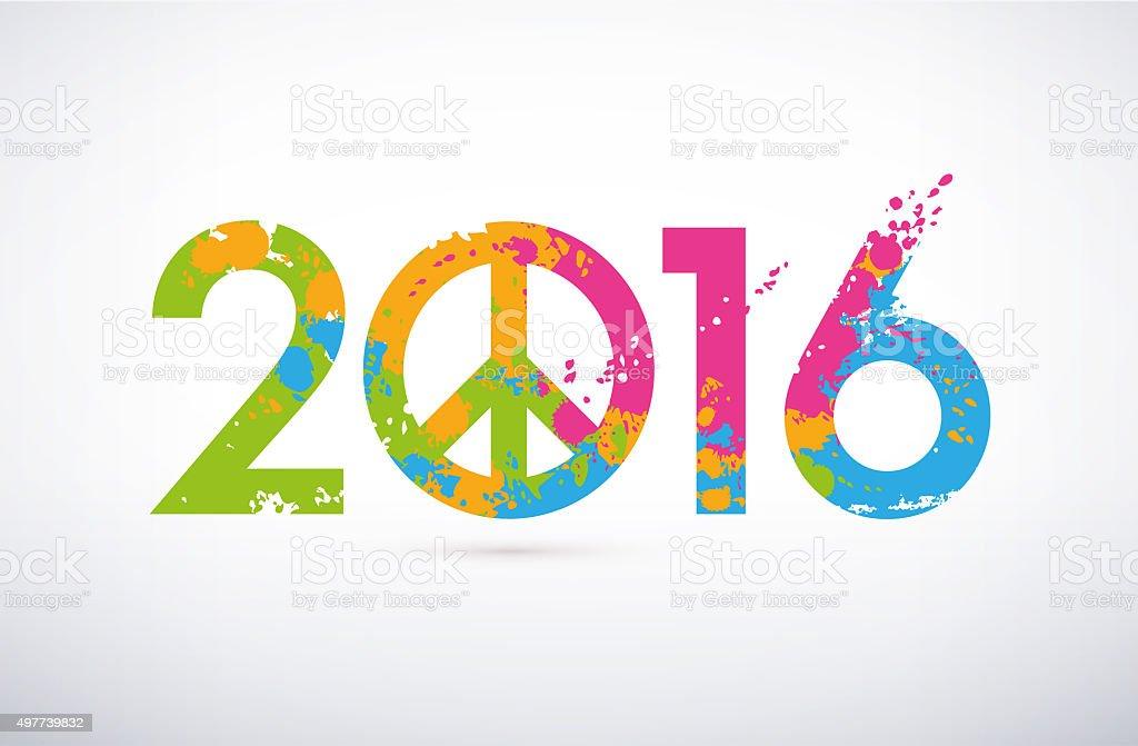 2016 Greeting symbol stock photo