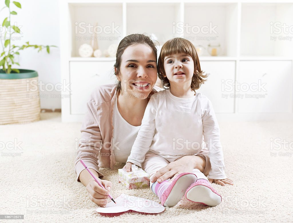 Greeting to mom for Mother's day royalty-free stock photo