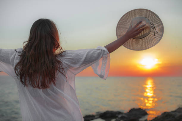 Greeting to the Sun - foto stock