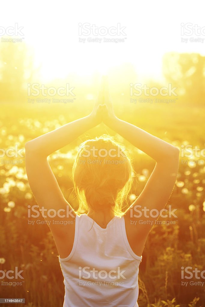 Greeting to the Sun royalty-free stock photo