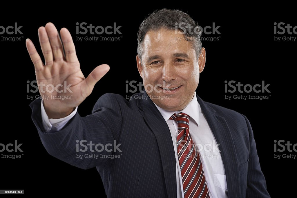 Greeting you with a wave royalty-free stock photo