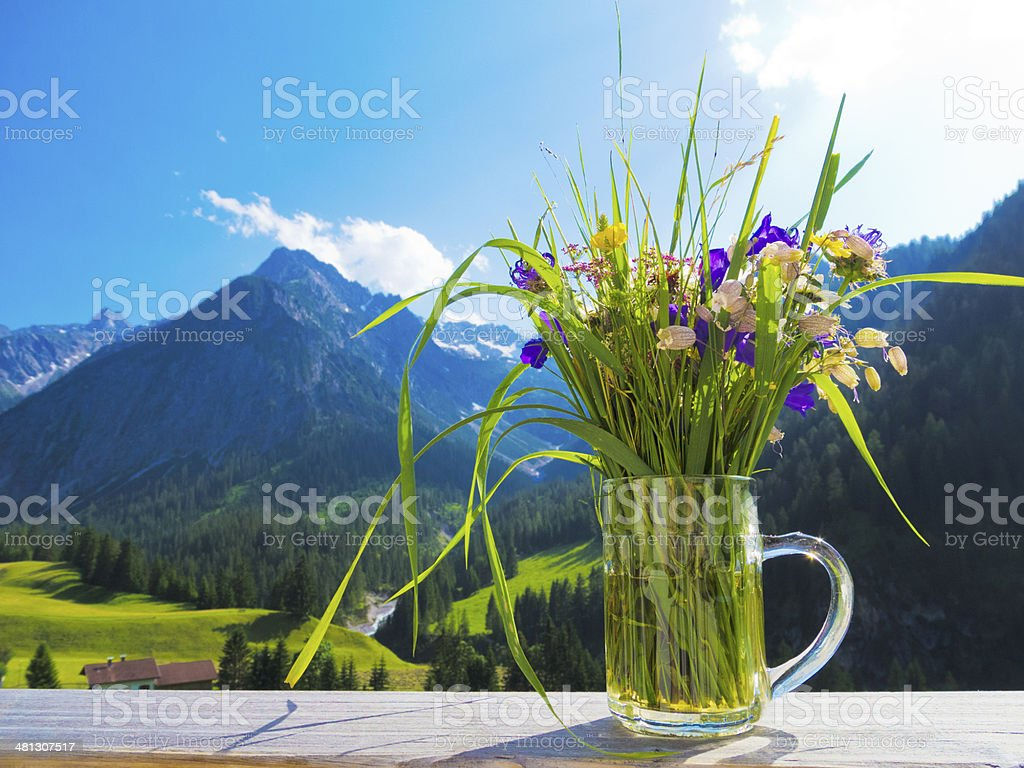 greetings form the alps royalty-free stock photo