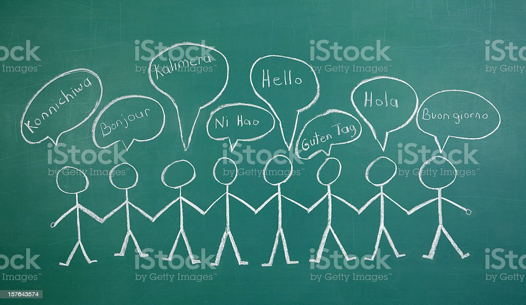 Greetings in Different Languages royalty-free stock photo