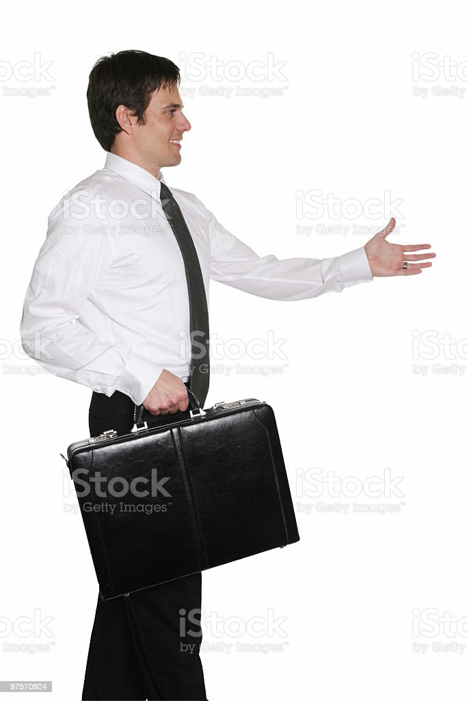 Greetings. Lets get together for business. royalty-free stock photo