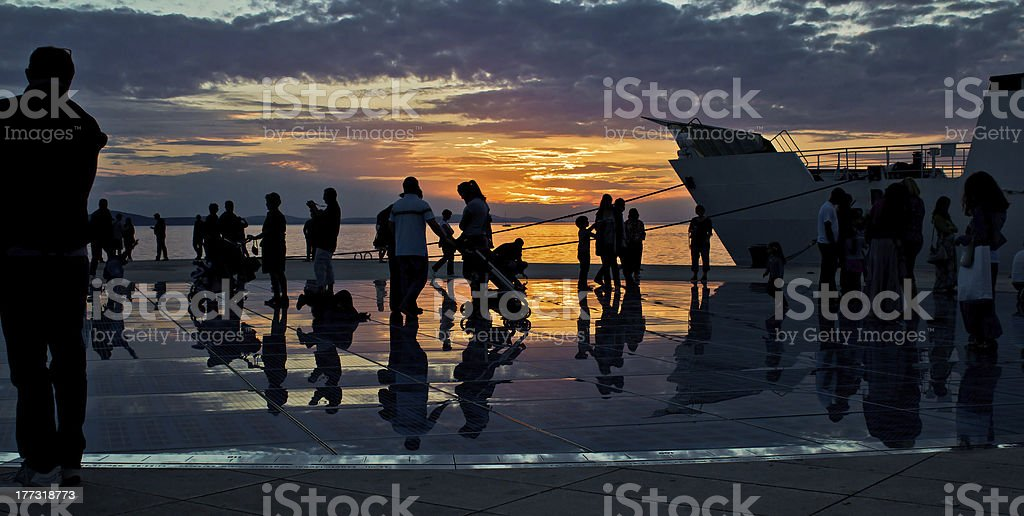 Greetings to the sun in Zadar royalty-free stock photo