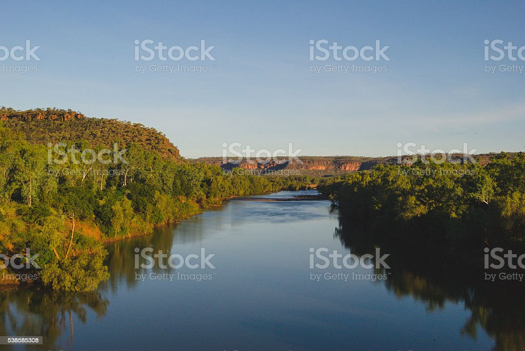 Gregory national park river stock photo