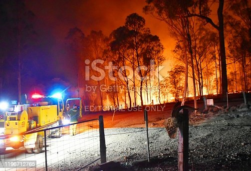 1195174769istockphoto Gregory river fire queensland rural volunteer firefighter fire engine qfes emergency services Bundaberg 1196712765