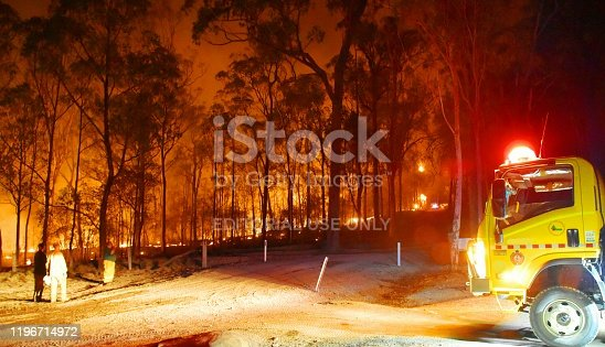 1195174769istockphoto Gregory river fire queensland rural volunteer firefighter fire engine qfes emergency services Bundaberg 1196714972
