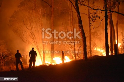 1195174769istockphoto Gregory river fire queensland rural volunteer firefighter fire engine qfes emergency services Bundaberg 1198949597