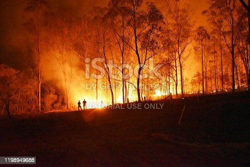1195174769istockphoto Gregory river fire queensland rural volunteer firefighter fire engine qfes emergency services Bundaberg 1198949688