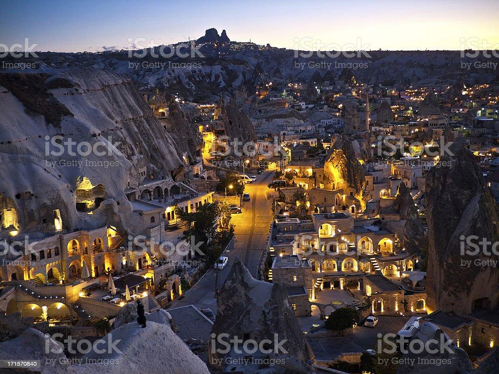Göreme, Cappadocia in the Evening stock photo