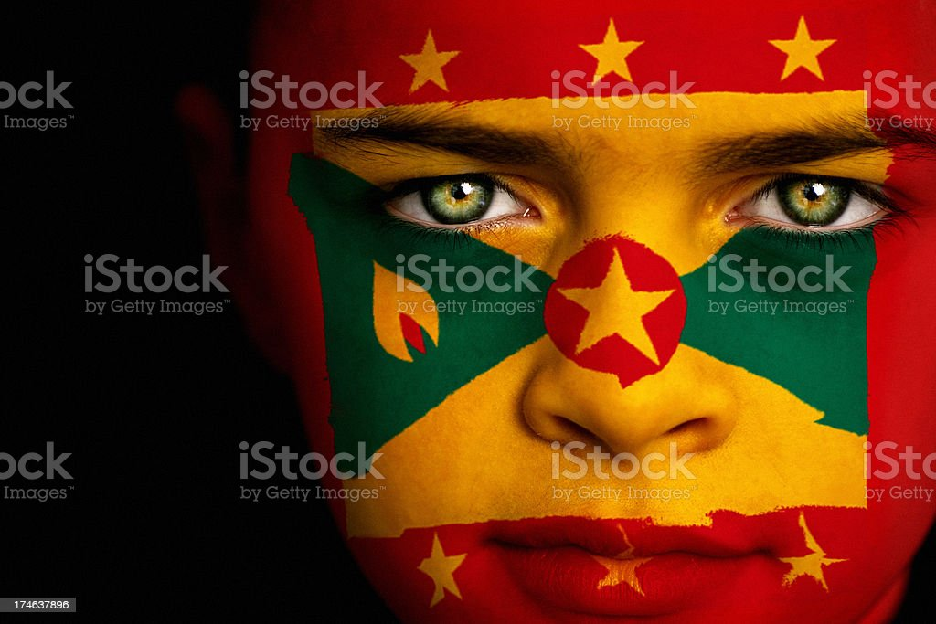 Grenada flag boy royalty-free stock photo