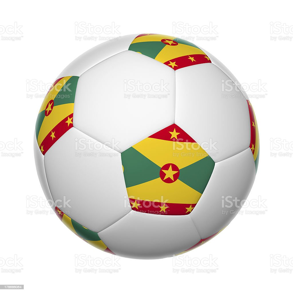 Grenada soccer ball stock photo