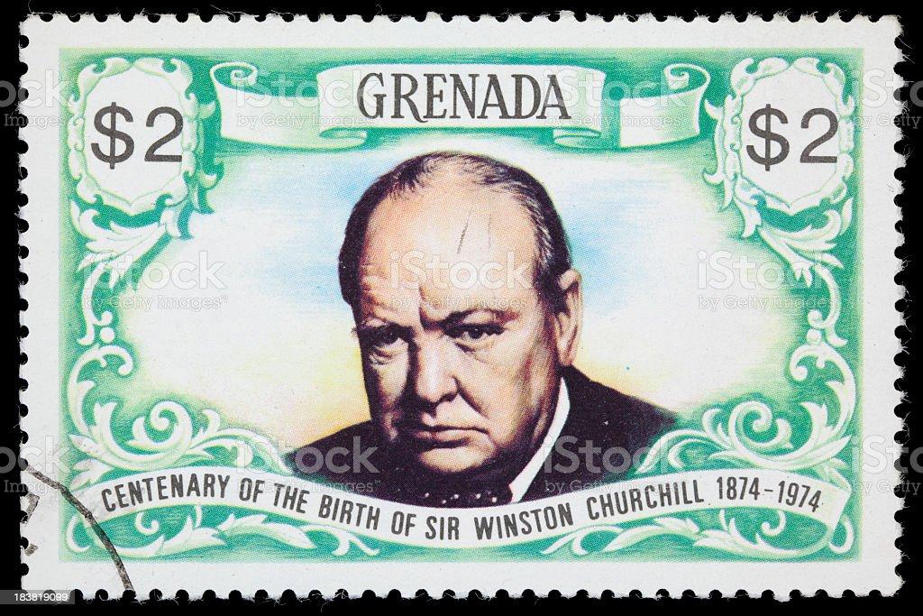 Grenada Winston Churchill postage stamp royalty-free stock photo