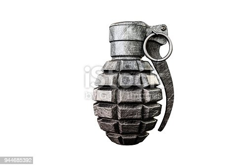 istock grenade isolated on white background 944685392