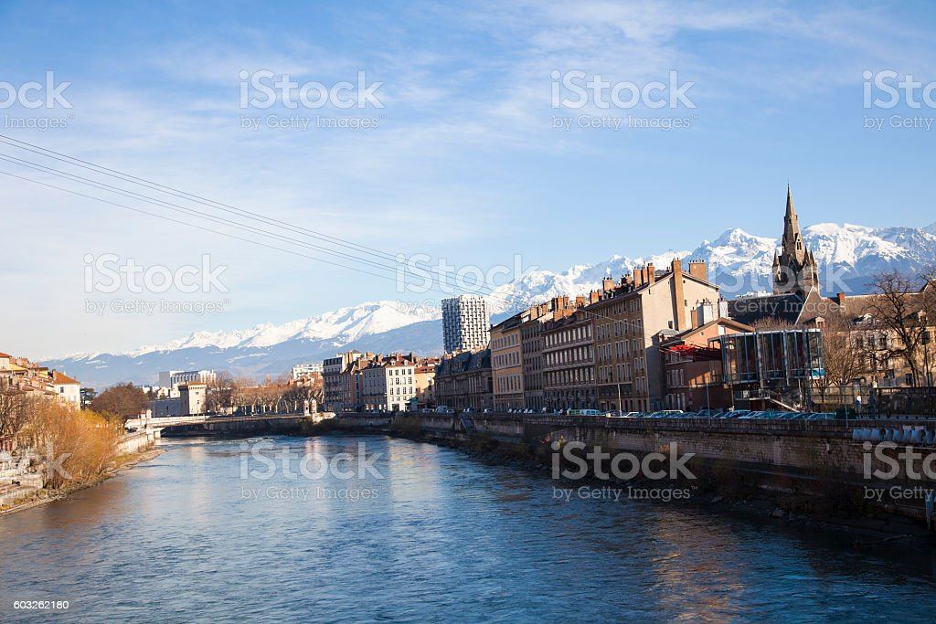 Grenoble and the Alps stock photo