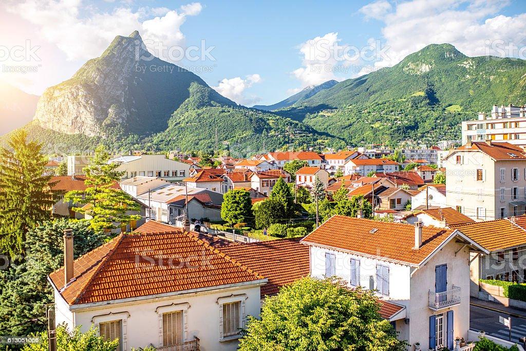 Grenoble city in France stock photo