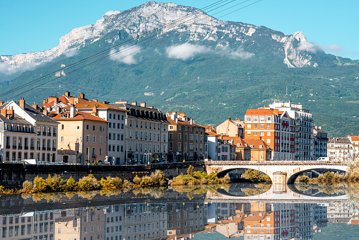 Grenoble City In France Stock Photo - Download Image Now