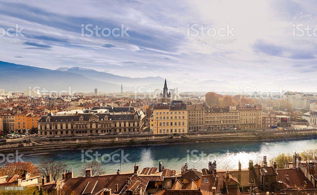 Grenoble cityscape, France stock photo