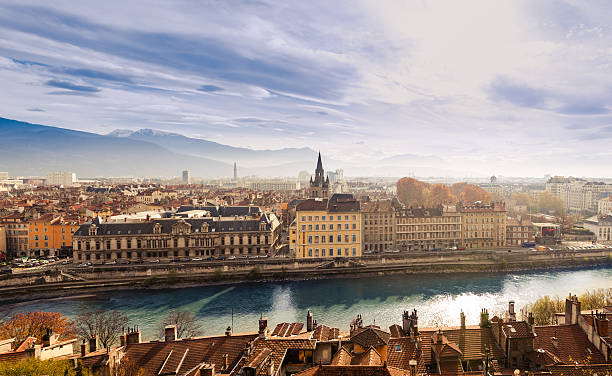Grenoble Stadt, Frankreich – Foto