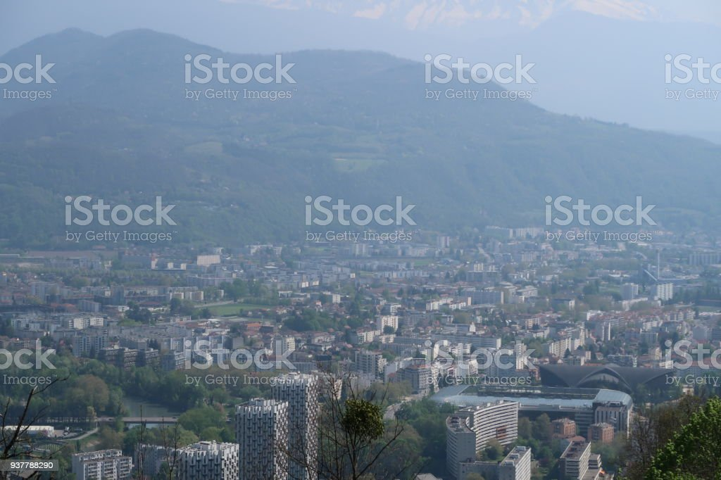 Grenoble cityscape stock photo