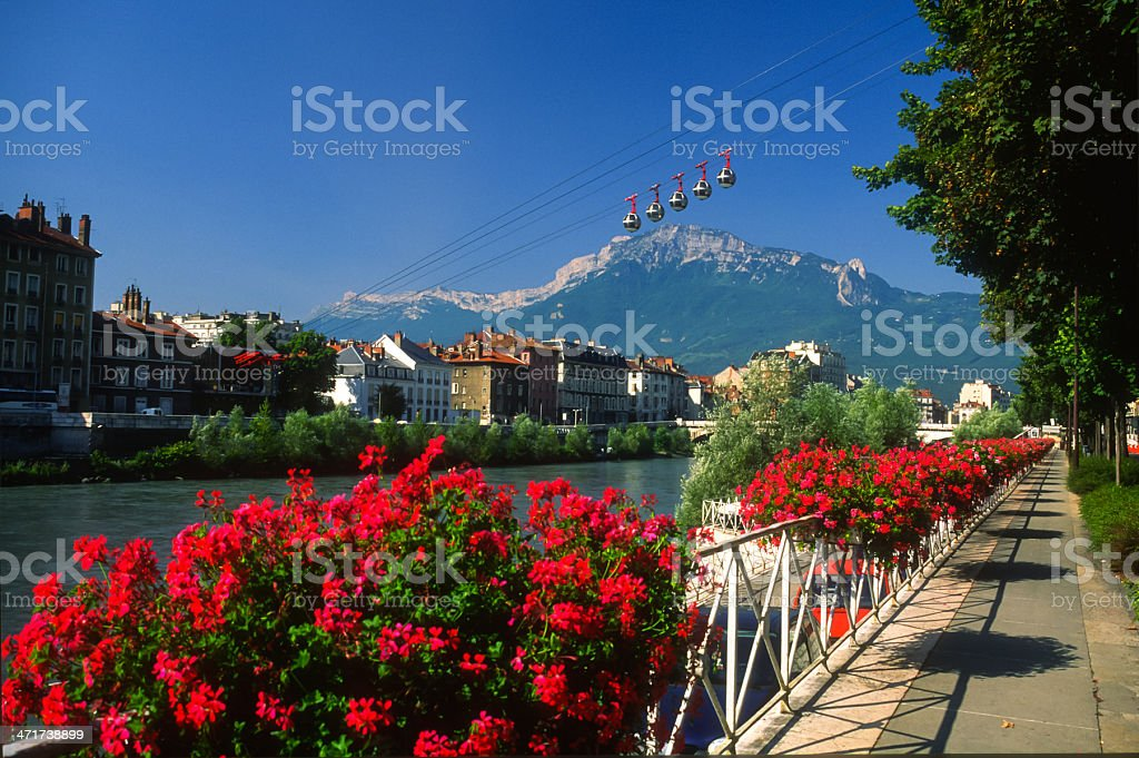 Grenoble Grenoble famous city in France, appreciated for its beauty and its mountains. Building Exterior Stock Photo
