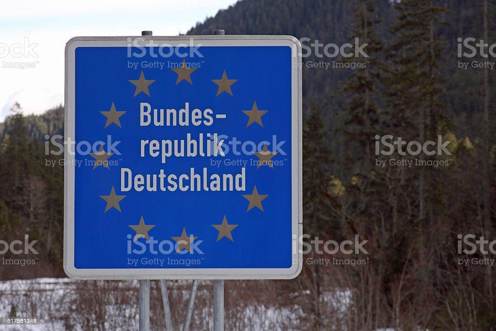 Grenzschild stock photo