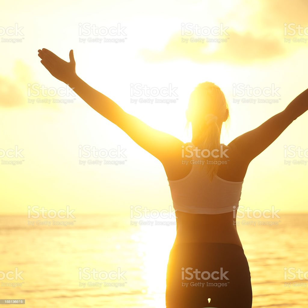 Gretting to the Sun royalty-free stock photo