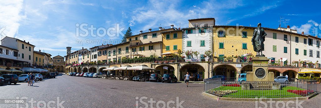 Greve in Chianti panoramic stock photo